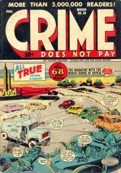 Crime Does Not Pay #50 Comic Books - Covers, Scans, Photos  in Crime Does Not Pay Comic Books - Covers, Scans, Gallery