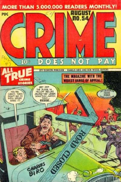 Crime Does Not Pay #54 comic books for sale