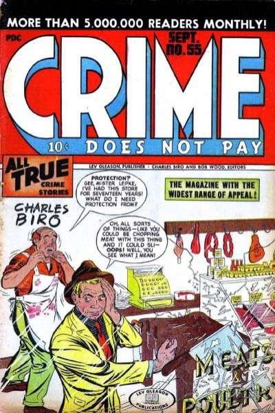 Crime Does Not Pay #55 Comic Books - Covers, Scans, Photos  in Crime Does Not Pay Comic Books - Covers, Scans, Gallery