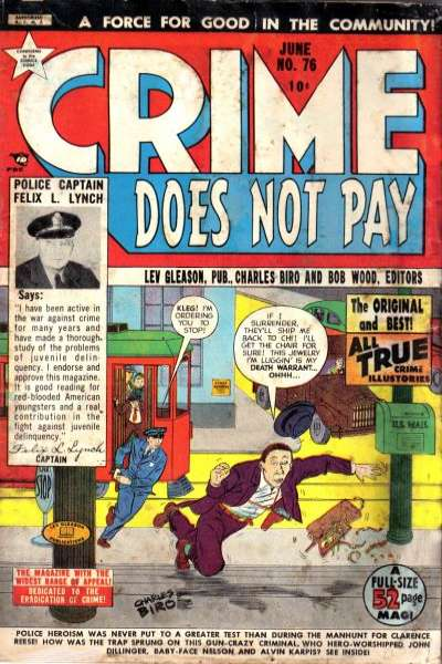 Crime Does Not Pay #76 comic books for sale