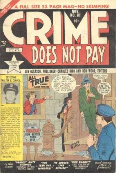 Crime Does Not Pay #81 comic books for sale