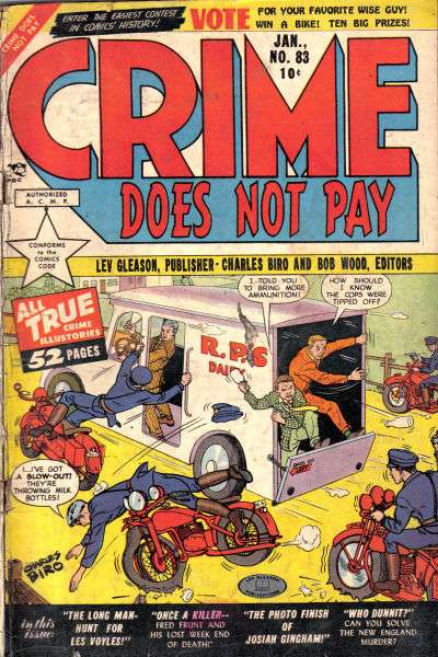 Crime Does Not Pay #83 comic books for sale
