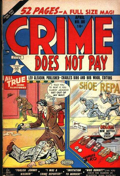 Crime Does Not Pay #86 comic books for sale