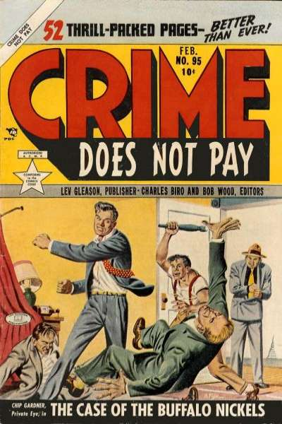 Crime Does Not Pay #95 comic books - cover scans photos Crime Does Not Pay #95 comic books - covers, picture gallery
