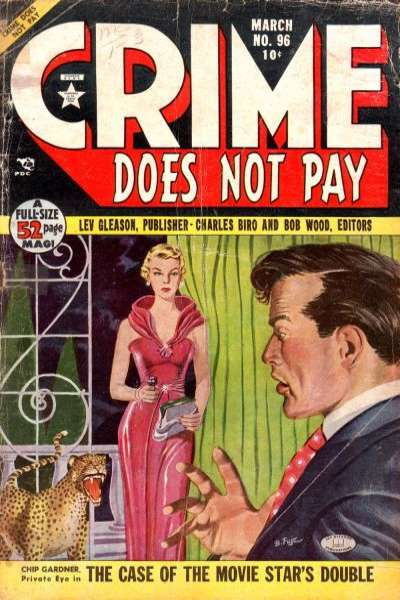 Crime Does Not Pay #96 comic books - cover scans photos Crime Does Not Pay #96 comic books - covers, picture gallery