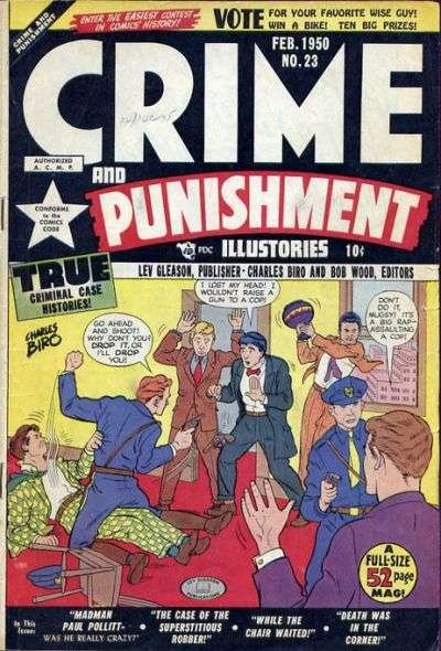 Crime and Punishment #23 Comic Books - Covers, Scans, Photos  in Crime and Punishment Comic Books - Covers, Scans, Gallery