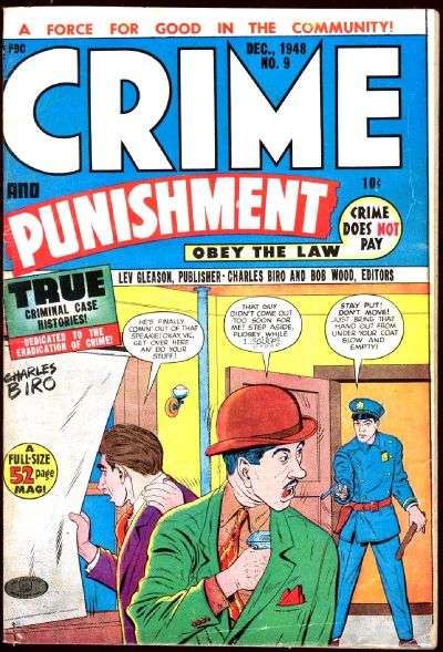 Crime and Punishment #9 comic books for sale
