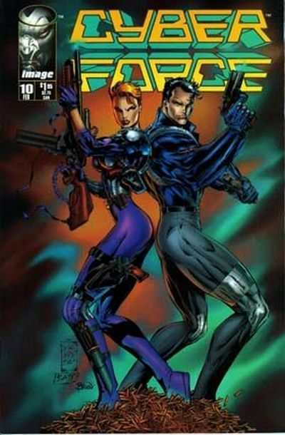 Cyberforce #10 comic books - cover scans photos Cyberforce #10 comic books - covers, picture gallery