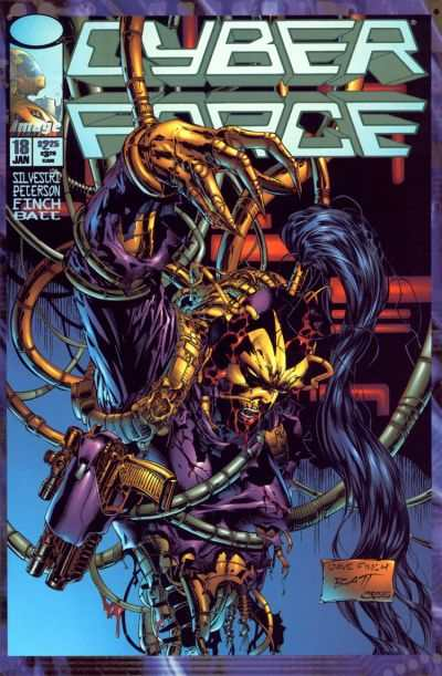 Cyberforce #18 comic books - cover scans photos Cyberforce #18 comic books - covers, picture gallery