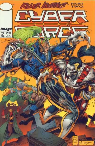Cyberforce #2 comic books - cover scans photos Cyberforce #2 comic books - covers, picture gallery