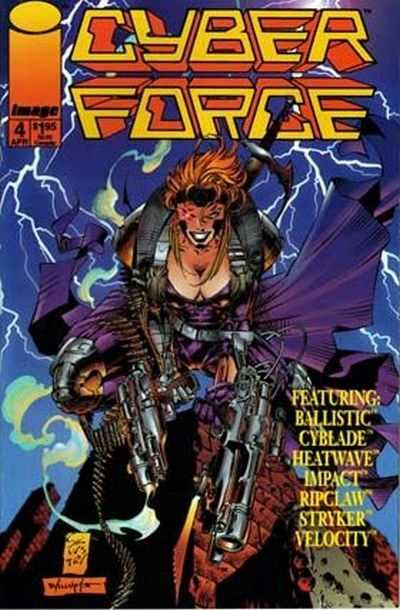 Cyberforce #4 comic books - cover scans photos Cyberforce #4 comic books - covers, picture gallery