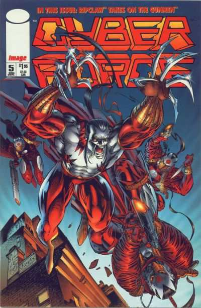 Cyberforce #5 comic books - cover scans photos Cyberforce #5 comic books - covers, picture gallery
