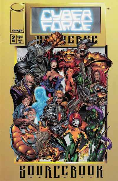Cyberforce Universe Sourcebook #2 comic books - cover scans photos Cyberforce Universe Sourcebook #2 comic books - covers, picture gallery