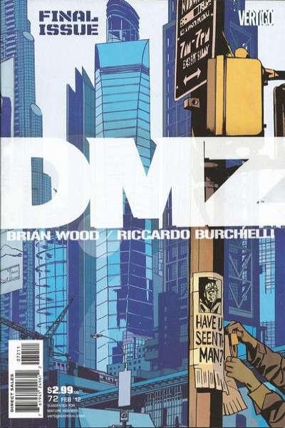 DMZ #72 comic books for sale