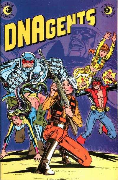 DNAgents #8 comic books - cover scans photos DNAgents #8 comic books - covers, picture gallery