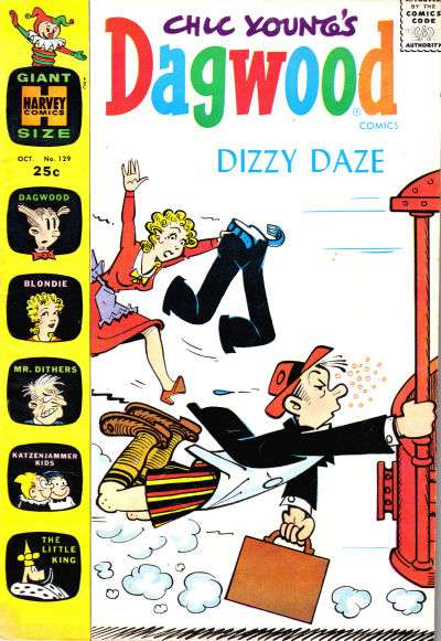 Dagwood #129 comic books - cover scans photos Dagwood #129 comic books - covers, picture gallery