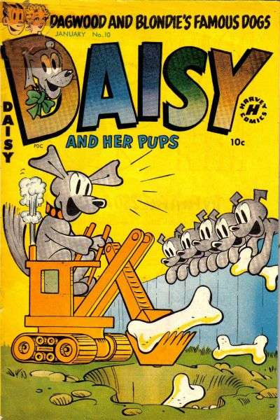 Daisy & Her Pups #10 comic books - cover scans photos Daisy & Her Pups #10 comic books - covers, picture gallery