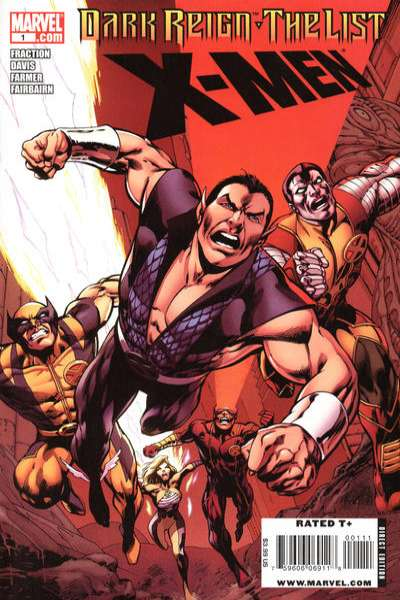 Dark Reign: The List - X-Men #1 comic books - cover scans photos Dark Reign: The List - X-Men #1 comic books - covers, picture gallery