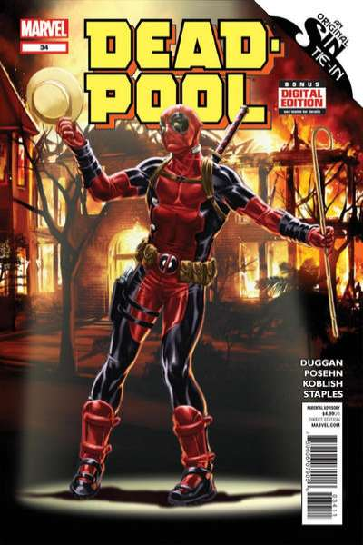 Deadpool #34 comic books - cover scans photos Deadpool #34 comic books - covers, picture gallery