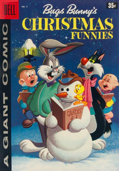 Dell Giant Comics: Bugs Bunny's Christmas Funnies #9 comic books - cover scans photos Dell Giant Comics: Bugs Bunny's Christmas Funnies #9 comic books - covers, picture gallery