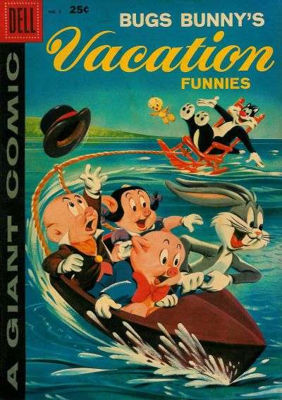 Dell Giant Comics: Bugs Bunny's Vacation Funnies #9 comic books - cover scans photos Dell Giant Comics: Bugs Bunny's Vacation Funnies #9 comic books - covers, picture gallery