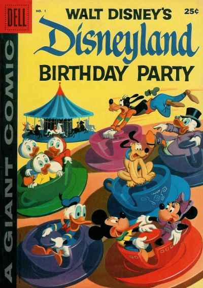 Dell Giant Comics: Disneyland Birthday Party #1 comic books - cover scans photos Dell Giant Comics: Disneyland Birthday Party #1 comic books - covers, picture gallery