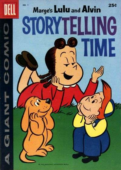 Dell Giant Comics: Marge's Lulu & Alvin Story Telling Time #1 comic books - cover scans photos Dell Giant Comics: Marge's Lulu & Alvin Story Telling Time #1 comic books - covers, picture gallery