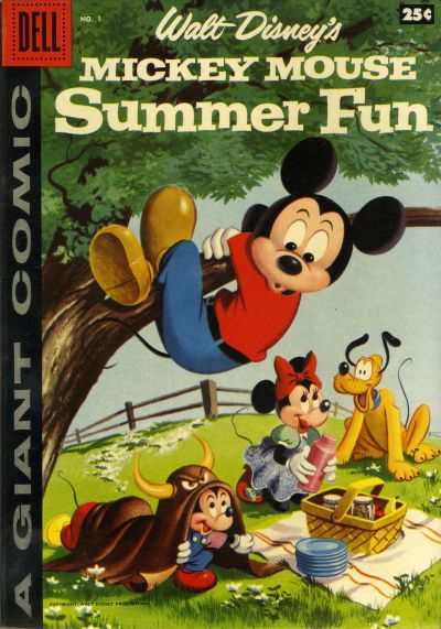 Dell Giant Comics: Mickey Mouse Summer Fun #1 comic books - cover scans photos Dell Giant Comics: Mickey Mouse Summer Fun #1 comic books - covers, picture gallery