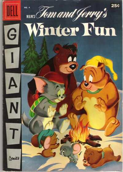 Dell Giant Comics: Tom & Jerry Winter Fun #4 comic books - cover scans photos Dell Giant Comics: Tom & Jerry Winter Fun #4 comic books - covers, picture gallery