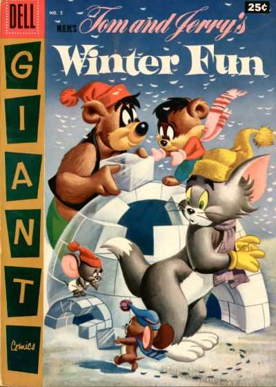Dell Giant Comics: Tom & Jerry Winter Fun #5 comic books - cover scans photos Dell Giant Comics: Tom & Jerry Winter Fun #5 comic books - covers, picture gallery