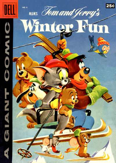 Dell Giant Comics: Tom & Jerry Winter Fun #6 comic books - cover scans photos Dell Giant Comics: Tom & Jerry Winter Fun #6 comic books - covers, picture gallery