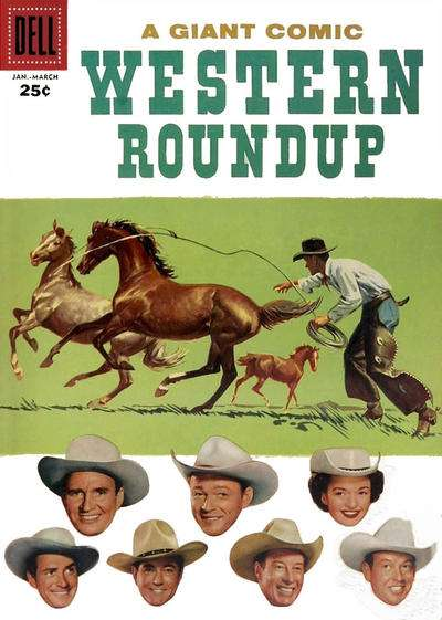 Dell Giant Comics: Western Roundup #17 comic books for sale