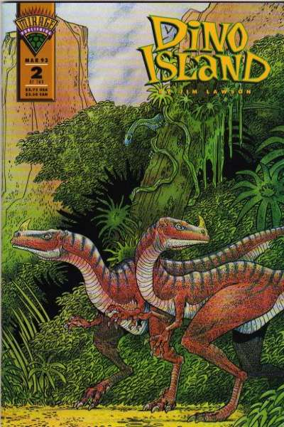 Dino Island #2 comic books - cover scans photos Dino Island #2 comic books - covers, picture gallery
