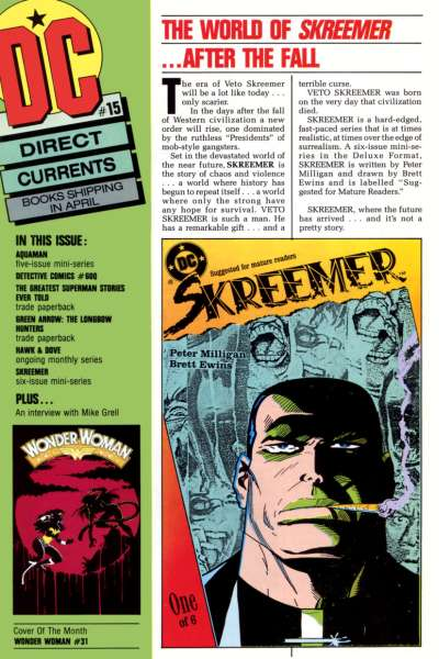 Direct Currents #15 Comic Books - Covers, Scans, Photos  in Direct Currents Comic Books - Covers, Scans, Gallery