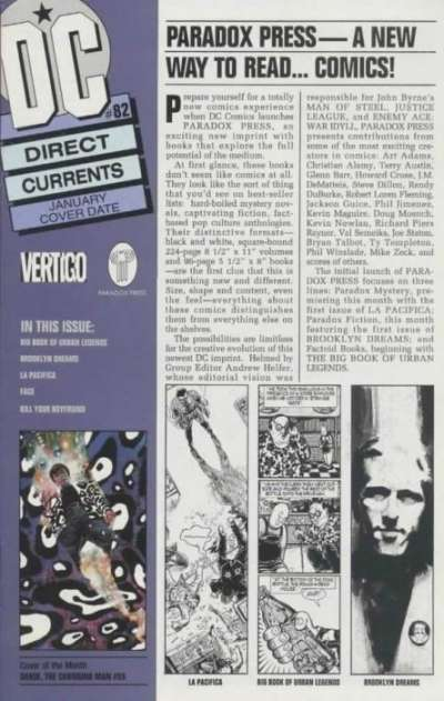 Direct Currents #82 comic books for sale