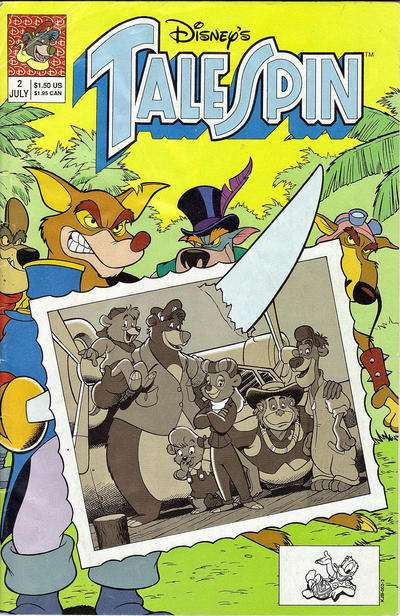 Disney's Talespin #2 Comic Books - Covers, Scans, Photos  in Disney's Talespin Comic Books - Covers, Scans, Gallery
