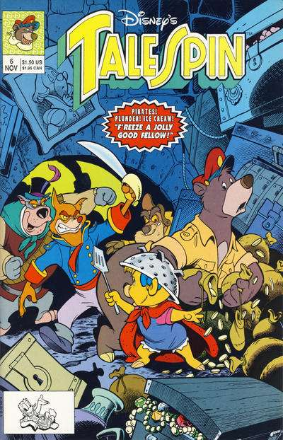 Disney's Talespin #6 Comic Books - Covers, Scans, Photos  in Disney's Talespin Comic Books - Covers, Scans, Gallery