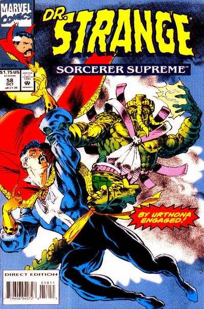 Doctor Strange: Sorcerer Supreme #58 comic books - cover scans photos Doctor Strange: Sorcerer Supreme #58 comic books - covers, picture gallery