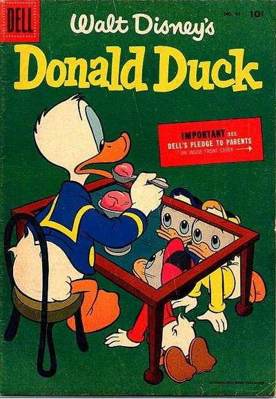 Donald Duck #43 Comic Books - Covers, Scans, Photos  in Donald Duck Comic Books - Covers, Scans, Gallery