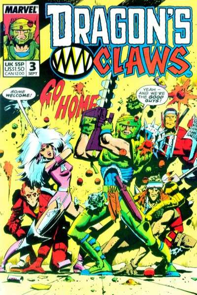 Dragon's Claws #3 Comic Books - Covers, Scans, Photos  in Dragon's Claws Comic Books - Covers, Scans, Gallery