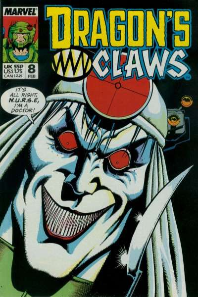 Dragon's Claws #8 Comic Books - Covers, Scans, Photos  in Dragon's Claws Comic Books - Covers, Scans, Gallery