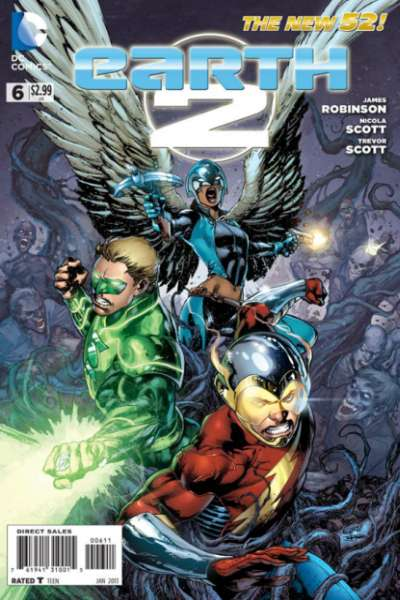 Earth 2 #6 comic books - cover scans photos Earth 2 #6 comic books - covers, picture gallery