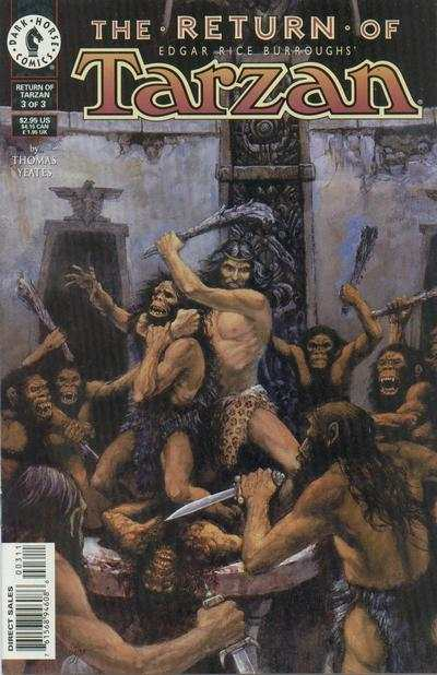 Edgar Rice Burroughs' Tarzan: The Return of Tarzan #3 comic books - cover scans photos Edgar Rice Burroughs' Tarzan: The Return of Tarzan #3 comic books - covers, picture gallery