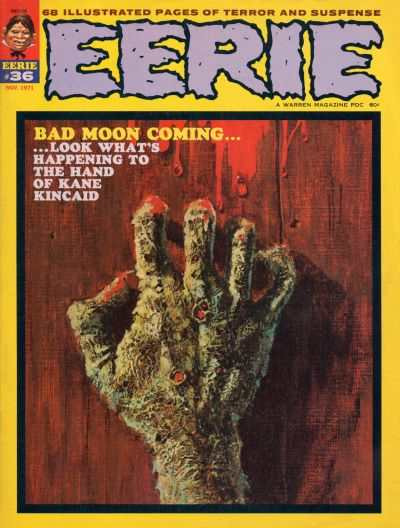 Eerie #36 comic books - cover scans photos Eerie #36 comic books - covers, picture gallery