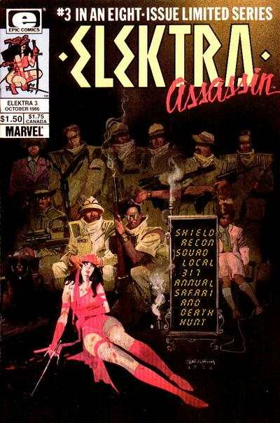 Elektra: Assassin #3 comic books - cover scans photos Elektra: Assassin #3 comic books - covers, picture gallery