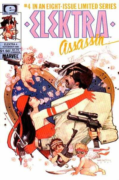 Elektra: Assassin #4 comic books - cover scans photos Elektra: Assassin #4 comic books - covers, picture gallery