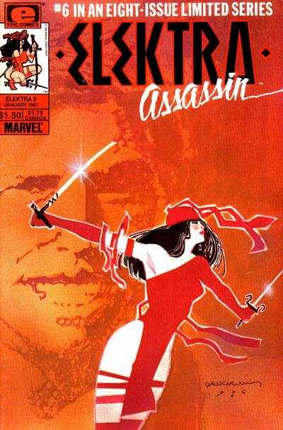 Elektra: Assassin #6 comic books - cover scans photos Elektra: Assassin #6 comic books - covers, picture gallery