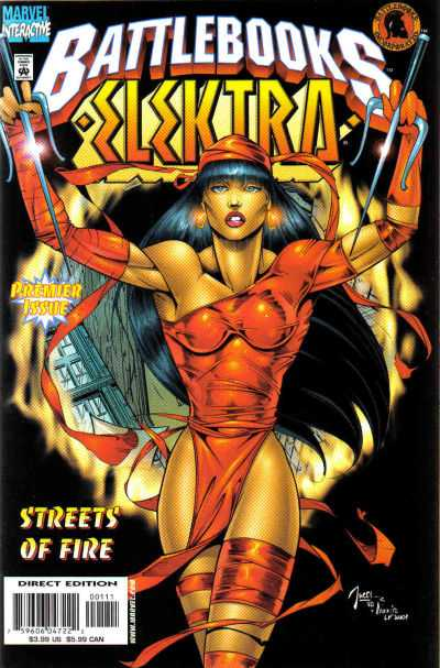 Elektra Battlebook: Streets of Fire #1 comic books - cover scans photos Elektra Battlebook: Streets of Fire #1 comic books - covers, picture gallery