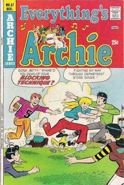 Everything's Archie #37 comic books - cover scans photos Everything's Archie #37 comic books - covers, picture gallery