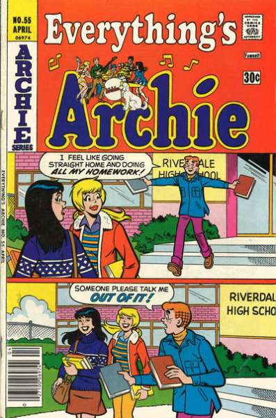 Everything's Archie #55 Comic Books - Covers, Scans, Photos  in Everything's Archie Comic Books - Covers, Scans, Gallery